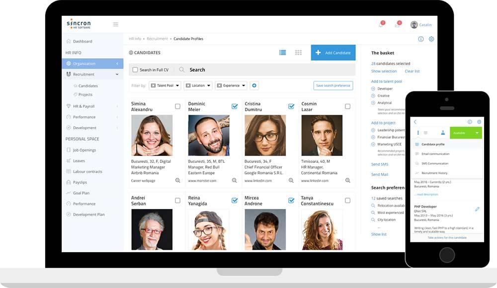 Sincron HR Software platforma gestionare resurse umane